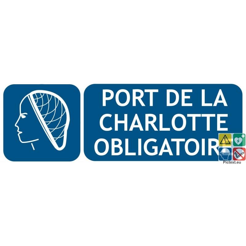 Signal tique port de la charlotte obligatoire a partir de 3 35 - Port de couche obligatoire ...