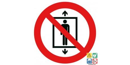 Picto interdit d'utiliser cet ascenseur pour des personnes