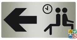 Panneau directionnel salle d'attente