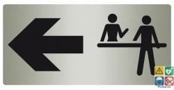 Panneau directionnel réception