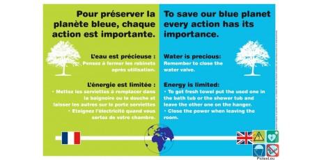 Panneau préserver la planète