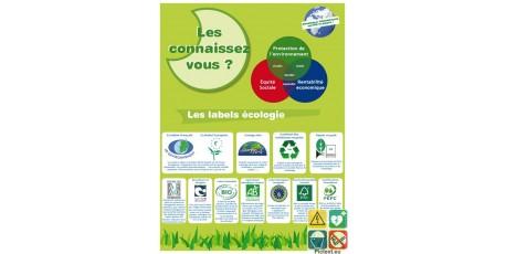 Panneau reconnaitre les labels écologie