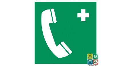 Pictogramme téléphone d'urgence