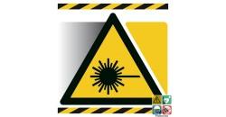 Picto danger rayonnement laser gamme xénon