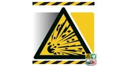 Pictogramme danger matières explosives