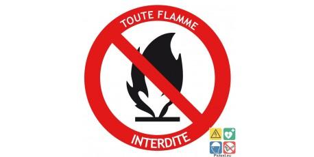 Pictogramme toutes flammes interdites