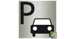 Pictogramme parking ISO70001 imitation métal