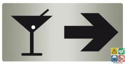 Panneau directionnel bar vers la droite