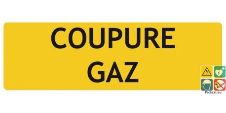 Coupure gaz panneau de localisation