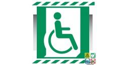 Picto PMR personne à mobilité réduite