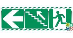 Panneau triptyque escalier vers la gauche et montant