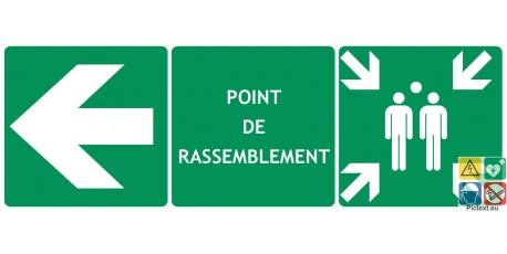 Panneau triptyque rassemblement vers la gauche