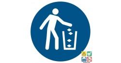 Picto utiliser la poubelle