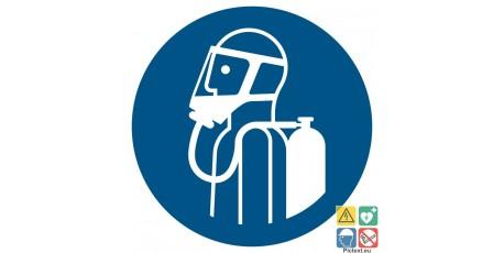 Picto utilisation d'un appareil respiratoire autonome