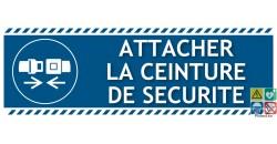 Panneau picto et texte obligation d'attacher sa ceinture de sécurité gamme laser