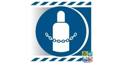 Picto sécuriser les bouteilles de gaz gamme xénon