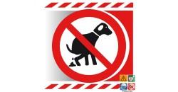 Picto déjections canines interdites