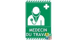 Panneau médecin du travail picto-texto