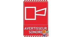 Panneau incendie avertisseur sonore gamme laser
