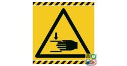 Picto danger écrasement des mains gamme laser