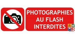 Panneau photographies au flash interdites