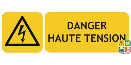 Panneau risque électrique danger haute tension