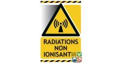 Panneau danger radiations non ionisantes