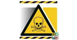 Panneau picto matières toxiques