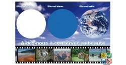 Panneau la planète conserver sa beauté