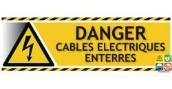 Panneau danger câbles électriques entérrés