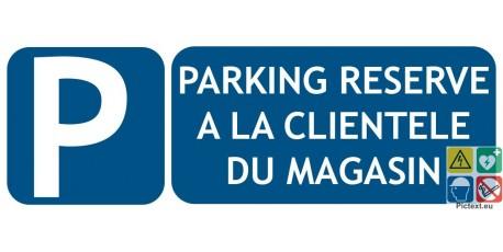 Panneau parking clientèle