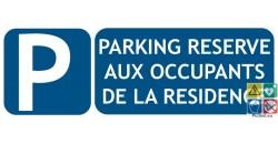 Panneau parking privé réservé aux résidents