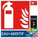 Panneaux extincteur eau additif classe A format carré