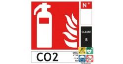 Panneau extincteur CO2 classe B format carré