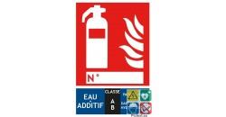Panneau extincteur additif eau classe AB format vertical