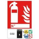 Panneaux extincteur CO2 classe B format vertical