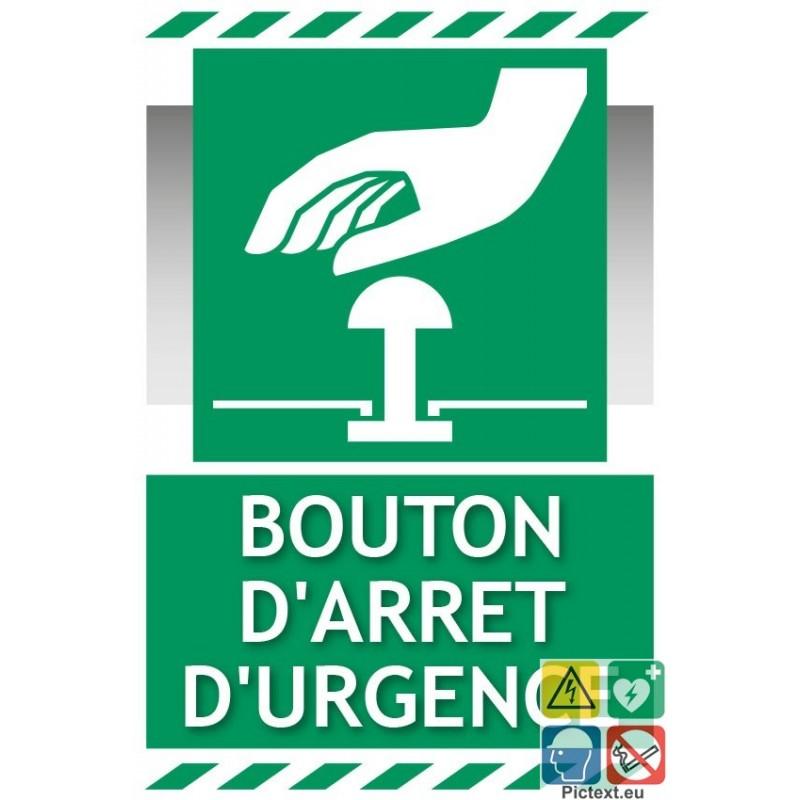 Panneau bouton d 39 arr t d 39 urgence - Bouton arret d urgence ...