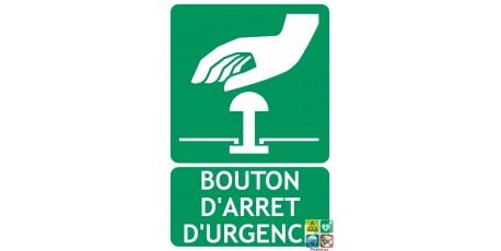 Panneau bouton d'arrêt d'urgence
