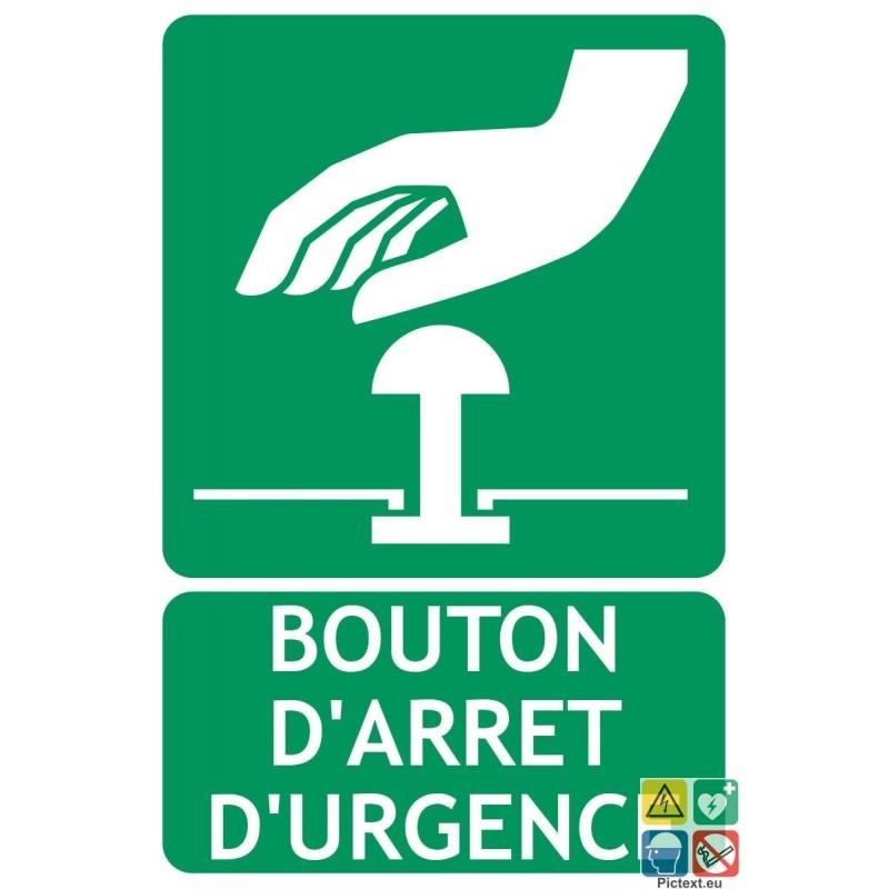 Panneau bouton d 39 arr t d 39 urgence - Bouton d arret d urgence ...