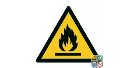 Panneau picto matières inflammables