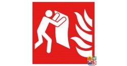Picto incendie couverture anti-feu