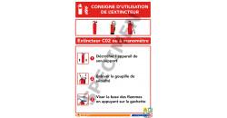 Consigne d'utilisation de l'extincteur CO2 ou à manomètre
