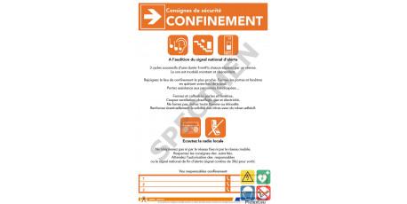 Consigne de sécurité confinement