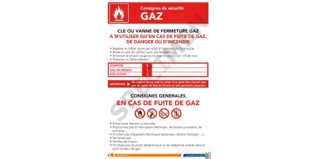 Consigne de sécurité gaz