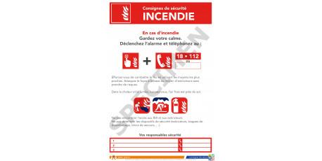 Consigne de sécurité incendie