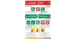 Consigne de sécurité hôtel 2 langues