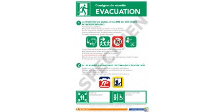 Consigne de sécurité évacuation