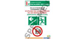 Escalier de secours gauche ne pas prendre l'ascenseur