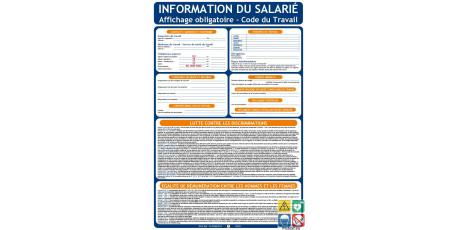 Panneau information du salarié affichage obligatoire