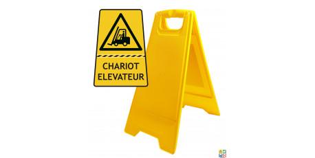 Chevalet de signalisation chariot élévateur